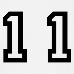 White number - 11 - eleven Men's T-Shirts - Men's T-Shirt
