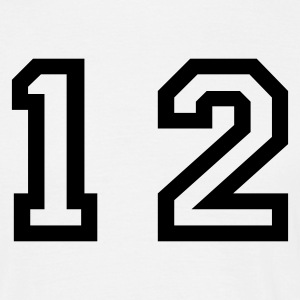 White number - 12 - twelve Men's T-Shirts - Men's T-Shirt
