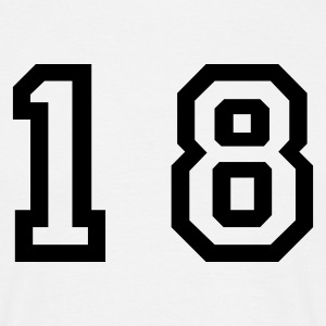 White number - 18 - eighteen Men's T-Shirts - Men's T-Shirt