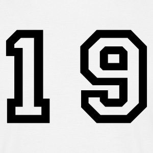 White number - 19 - nineteen Men's T-Shirts - Men's T-Shirt
