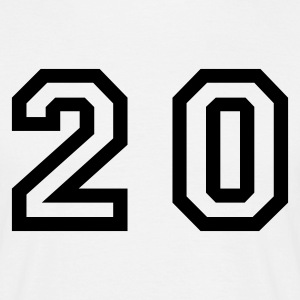 White number - 20 - twenty Men's T-Shirts - Men's T-Shirt