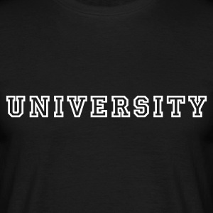 Black University Men's T-Shirts - Men's T-Shirt