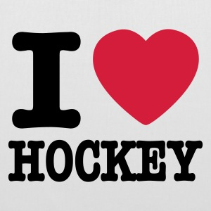 White i love hockey Bags  - Tote Bag