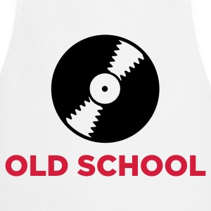 White Old School DJ (2c, NEU)  Aprons - Cooking Apron