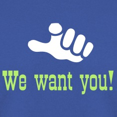 Green hand sign we want you (1c) Hoodies & Sweatshirts