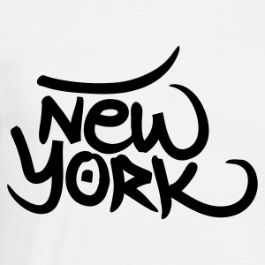 White New York graffiti Men's T-Shirts - Men's T-Shirt