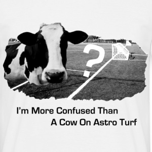 White Astro Cow Funny Men's T-Shirts - Men's T-Shirt