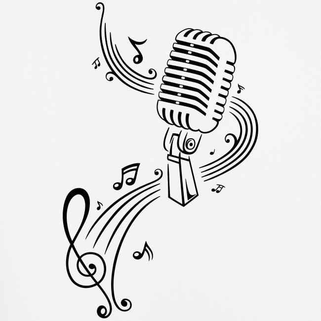 merch and beauties  musik notenschlüssel mit retro