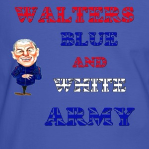 Blue/white walters blue and white army Men's T-Shirts - Men's Ringer Shirt