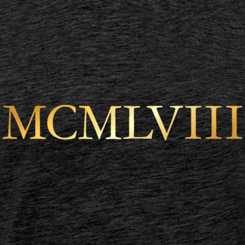 MCMLVIII Jahrgang 1958 Geburtstag (Gold)