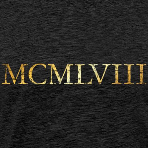 MCMLVIII Jahrgang 1958 Geburtstag (Vintage Gold)