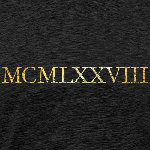 MCMLXXVIII Jahrgang 1978 Geburtstag (Vintage Gold)