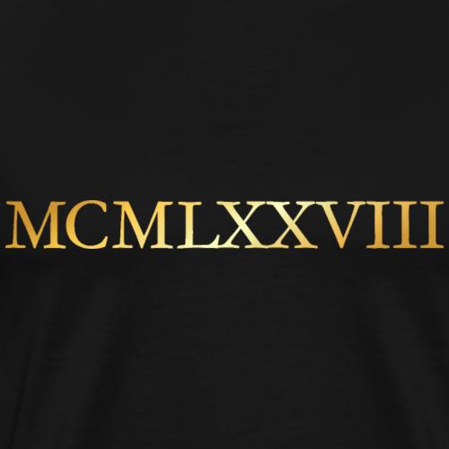 MCMLXXVIII Jahrgang 1978 Geburtstag (Gold)