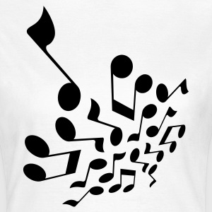 Wit Crazy notes 3D T-shirts - Vrouwen T-shirt