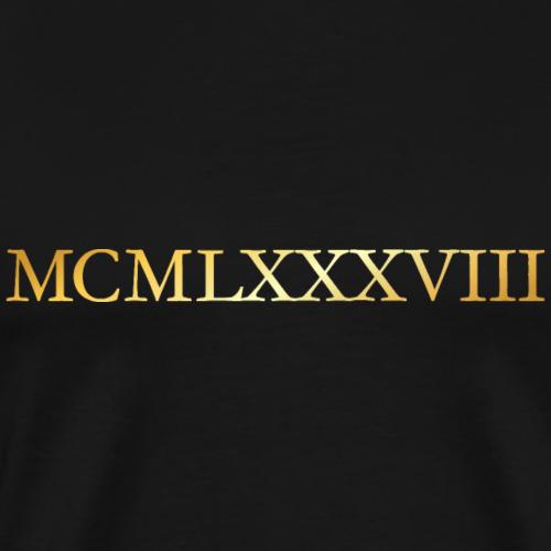 MCMLXXXVIII Jahrgang 1988 Geburtstag (Gold)