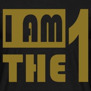 Zwart i_am_the_1_los T-shirts - Mannen T-shirt