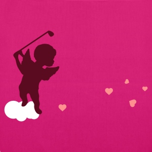 Magenta Amor with golf Club Bags  - EarthPositive Tote Bag