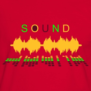 Red/white sound_2 Men's T-Shirts - Men's Ringer Shirt
