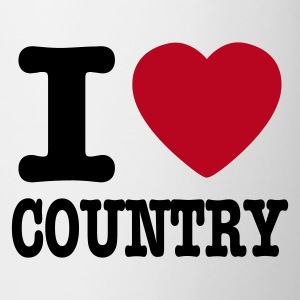 White i love country / i heart country Mugs  - Mug