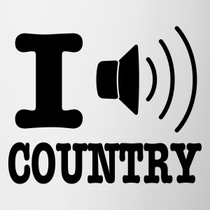Biały I music country / I love country Kubki - Kubek