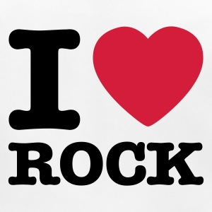 Hvid i love rock / I heart rock Accessories - Baby økologisk hagesmæk