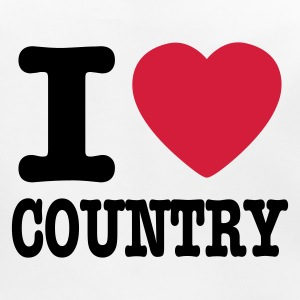 Bianco i love country / i heart country Accessori - Bavaglino