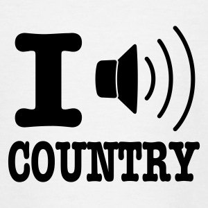Blanc I music country / I love country T-shirts Enfants - T-shirt Ado
