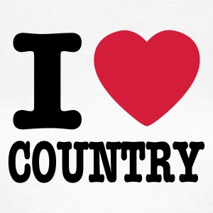 White i love country / i heart country Women's T-Shirts - Women's T-Shirt