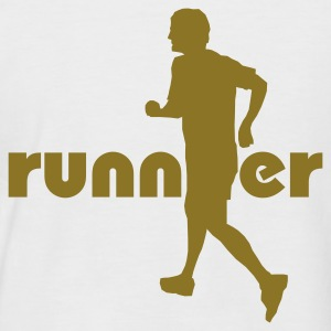 White/navy Running, Runner T-Shirts - Men's Baseball T-Shirt