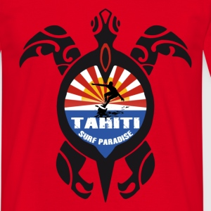 Rouge tahiti turtle T-shirts - T-shirt Homme