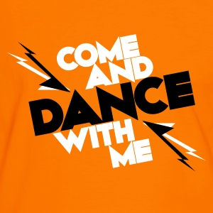 Orange/schwarz Come and DANCE with me T-Shirts - Männer Kontrast-T-Shirt