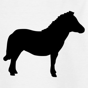 White Miniature Pony Kids' Shirts - Teenage T-shirt