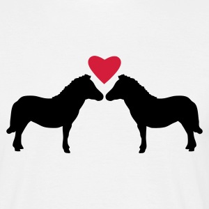 White Miniature Ponies Love Men's T-Shirts - Men's T-Shirt