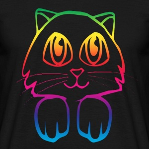 Black rainbow_pussy Men's T-Shirts - Men's T-Shirt