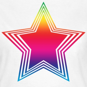 White rainbow_star  Women's T-Shirts - Women's T-Shirt