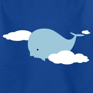 Royal blue Whale in the Clouds Kids' Shirts - Teenage T-shirt