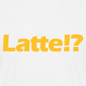 Weiß Latte!? © T-Shirts - T-skjorte for menn