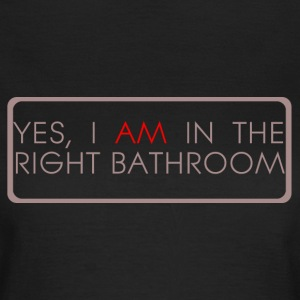 Black right_bathroom Women's T-Shirts - Women's T-Shirt
