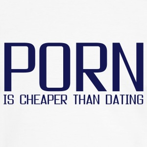 Vit/marinblå porn is cheaper than dating T-shirts - Kontrast-T-shirt herr