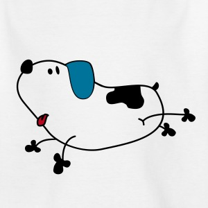 Kindershirt - fliegender Hund - Teenager T-Shirt