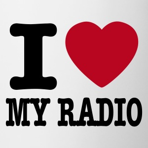Vit i love my radio / I heart my radio Muggar - Mugg