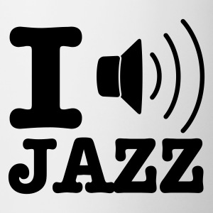 White I love jazz / I music jazz Mugs  - Mug