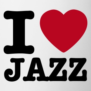 White I love jazz / I heart jazz Mugs  - Mug