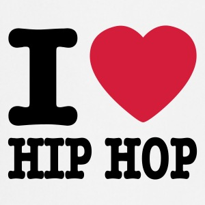 White I love hiphop / I heart hiphop  Aprons - Cooking Apron
