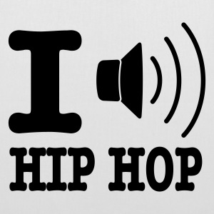 Bianco I love hiphop / I speaker hiphop Borse - Borsa di stoffa