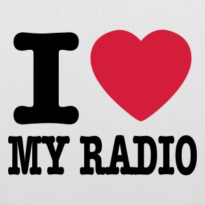 Blanco i love my radio / I heart my radio Mochilas - Bolsa de tela