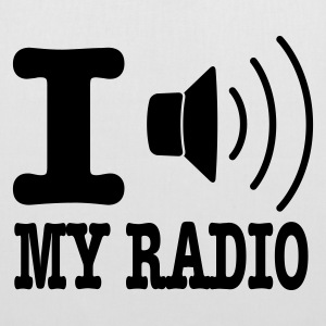 Hvid I love my radio / I speaker my radio Tasker - Mulepose