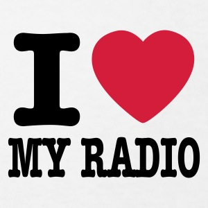 Vit i love my radio / I heart my radio Barn-T-shirts - Ekologisk T-shirt barn