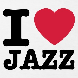 Wit I love jazz / I heart jazz Kinder shirts - Kinderen Bio-T-shirt