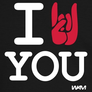 Svart/vit i rock you T-shirts - Kontrast-T-shirt herr